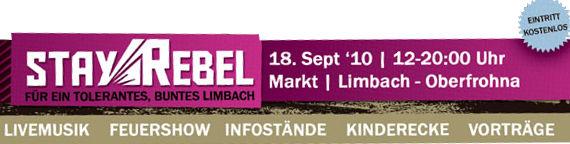 Banner Stay Rebel Limbach-O. 2010
