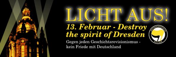 Licht aus! - 13. Februar ab 10:00 Dresden-Neustadt